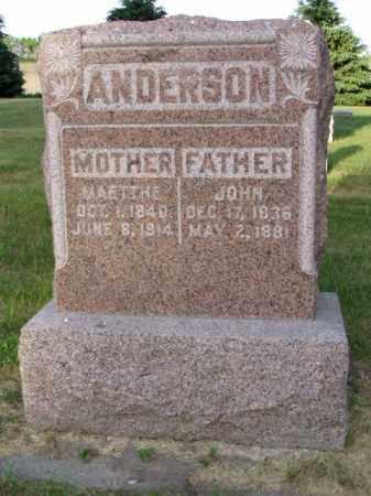 ANDERSON, JOHN - Minnehaha County, South Dakota | JOHN ANDERSON - South Dakota Gravestone Photos
