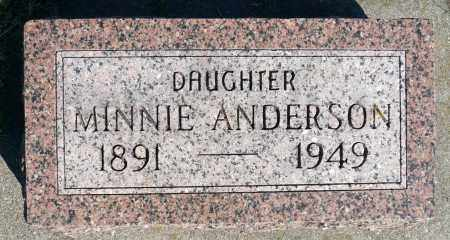 ANDERSON, MINNIE - Minnehaha County, South Dakota | MINNIE ANDERSON - South Dakota Gravestone Photos