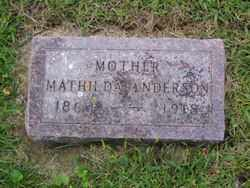 ANDERSON, MATHILDA - Minnehaha County, South Dakota | MATHILDA ANDERSON - South Dakota Gravestone Photos