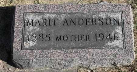 ANDERSON, MARIT - Minnehaha County, South Dakota | MARIT ANDERSON - South Dakota Gravestone Photos