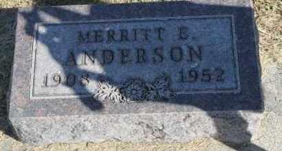 ANDERSON, MERRITT E. - Minnehaha County, South Dakota | MERRITT E. ANDERSON - South Dakota Gravestone Photos