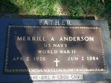 ANDERSON, MERRILL A. - Minnehaha County, South Dakota | MERRILL A. ANDERSON - South Dakota Gravestone Photos