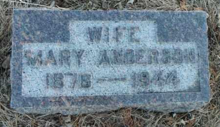 ANDERSON, MARY - Minnehaha County, South Dakota | MARY ANDERSON - South Dakota Gravestone Photos