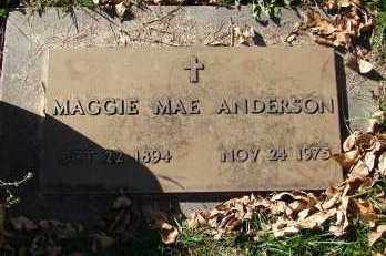 ANDERSON, MAGGIE MAE - Minnehaha County, South Dakota | MAGGIE MAE ANDERSON - South Dakota Gravestone Photos