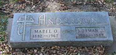 ANDERSON, MABEL O. - Minnehaha County, South Dakota | MABEL O. ANDERSON - South Dakota Gravestone Photos