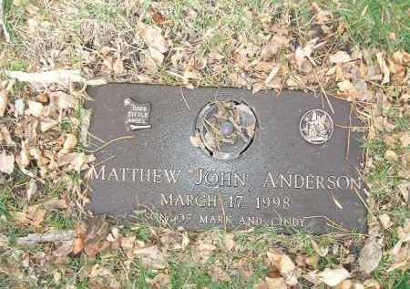 ANDERSON, MATTHEW JOHN - Minnehaha County, South Dakota | MATTHEW JOHN ANDERSON - South Dakota Gravestone Photos
