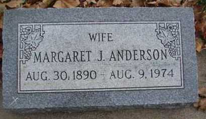 ANDERSON, MARGARET J. - Minnehaha County, South Dakota | MARGARET J. ANDERSON - South Dakota Gravestone Photos