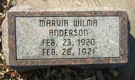ANDERSON, MARVIA WILMA - Minnehaha County, South Dakota | MARVIA WILMA ANDERSON - South Dakota Gravestone Photos