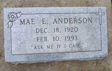 ANDERSON, MAE E. - Minnehaha County, South Dakota | MAE E. ANDERSON - South Dakota Gravestone Photos