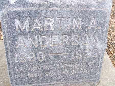 ANDERSON, MARTIN A. - Minnehaha County, South Dakota | MARTIN A. ANDERSON - South Dakota Gravestone Photos