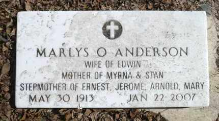 ANDERSON, MARLYS OPHELIA - Minnehaha County, South Dakota | MARLYS OPHELIA ANDERSON - South Dakota Gravestone Photos
