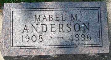 ANDERSON, MABEL M. - Minnehaha County, South Dakota   MABEL M. ANDERSON - South Dakota Gravestone Photos