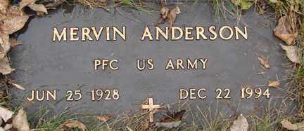 ANDERSON, MERVIN (MILITARY) - Minnehaha County, South Dakota | MERVIN (MILITARY) ANDERSON - South Dakota Gravestone Photos