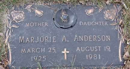 ANDERSON, MARJORIE A. - Minnehaha County, South Dakota | MARJORIE A. ANDERSON - South Dakota Gravestone Photos