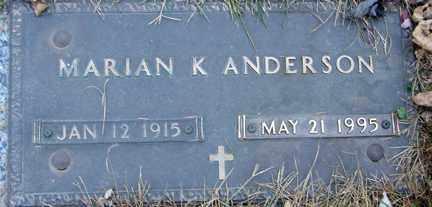 ANDERSON, MARIAN K. - Minnehaha County, South Dakota | MARIAN K. ANDERSON - South Dakota Gravestone Photos