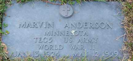 ANDERSON, MARVIN (WWII) - Minnehaha County, South Dakota | MARVIN (WWII) ANDERSON - South Dakota Gravestone Photos