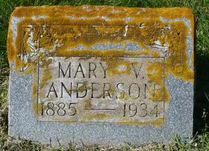 ANDERSON, MARY V. - Minnehaha County, South Dakota | MARY V. ANDERSON - South Dakota Gravestone Photos