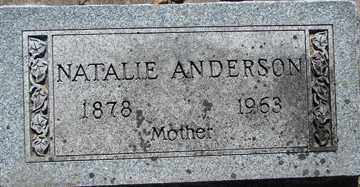 ANDERSON, NATALIE - Minnehaha County, South Dakota | NATALIE ANDERSON - South Dakota Gravestone Photos