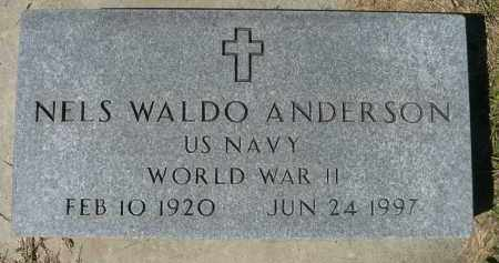 ANDERSON, NELS WALDO (WWII) - Minnehaha County, South Dakota | NELS WALDO (WWII) ANDERSON - South Dakota Gravestone Photos