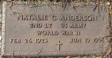 ANDERSON, NATALIE C. - Minnehaha County, South Dakota   NATALIE C. ANDERSON - South Dakota Gravestone Photos