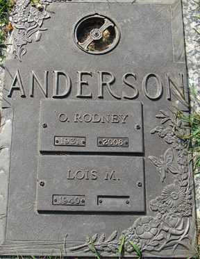 ANDERSON, OSCAR RODNEY - Minnehaha County, South Dakota | OSCAR RODNEY ANDERSON - South Dakota Gravestone Photos