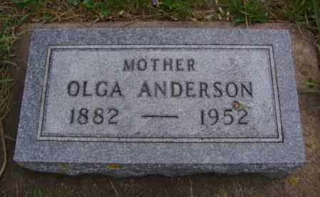 ANDERSON, OLGA - Minnehaha County, South Dakota | OLGA ANDERSON - South Dakota Gravestone Photos