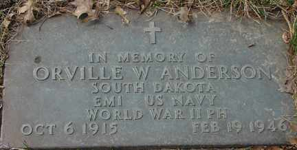 ANDERSON, ORVILLE W. - Minnehaha County, South Dakota | ORVILLE W. ANDERSON - South Dakota Gravestone Photos