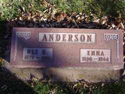 ANDERSON, EMMA - Minnehaha County, South Dakota | EMMA ANDERSON - South Dakota Gravestone Photos