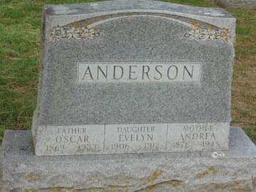 ANDERSON, ANDREA - Minnehaha County, South Dakota | ANDREA ANDERSON - South Dakota Gravestone Photos