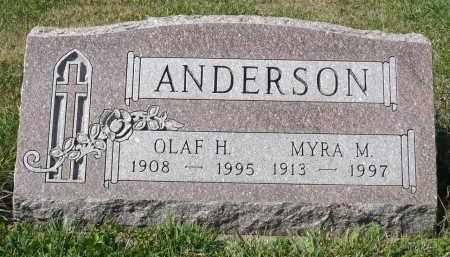 ANDERSON, MYRA M. - Minnehaha County, South Dakota | MYRA M. ANDERSON - South Dakota Gravestone Photos
