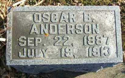 ANDERSON, OSCAR B. - Minnehaha County, South Dakota | OSCAR B. ANDERSON - South Dakota Gravestone Photos