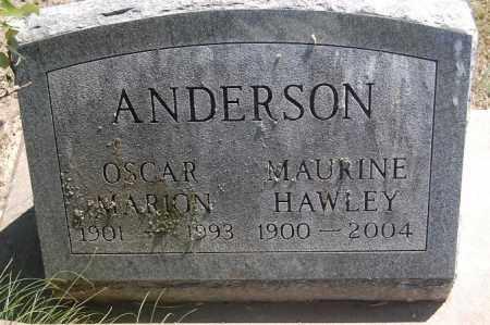 ANDERSON, MAURINE DORIS - Minnehaha County, South Dakota | MAURINE DORIS ANDERSON - South Dakota Gravestone Photos