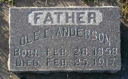 ANDERSON, OLE E. - Minnehaha County, South Dakota | OLE E. ANDERSON - South Dakota Gravestone Photos