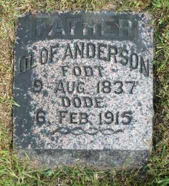 ANDERSON, OLOF - Minnehaha County, South Dakota | OLOF ANDERSON - South Dakota Gravestone Photos