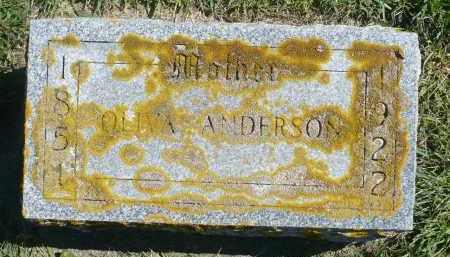 ANDERSON, OLIVA - Minnehaha County, South Dakota   OLIVA ANDERSON - South Dakota Gravestone Photos