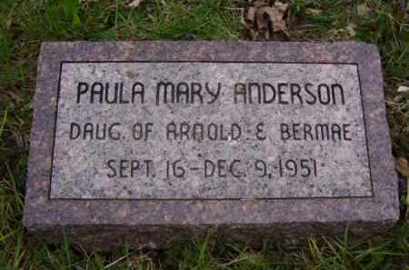 ANDERSON, PAULA MARY - Minnehaha County, South Dakota | PAULA MARY ANDERSON - South Dakota Gravestone Photos