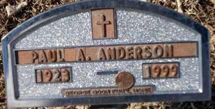 ANDERSON, PAUL A. - Minnehaha County, South Dakota | PAUL A. ANDERSON - South Dakota Gravestone Photos