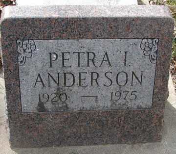 ANDERSON, PETRA I. - Minnehaha County, South Dakota   PETRA I. ANDERSON - South Dakota Gravestone Photos