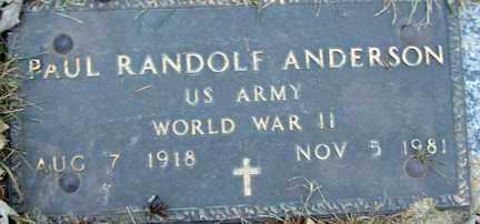 ANDERSON, PAUL RANDOLF (WWII) - Minnehaha County, South Dakota | PAUL RANDOLF (WWII) ANDERSON - South Dakota Gravestone Photos