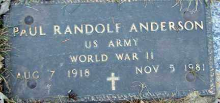 ANDERSON, PAUL RANDOLF (WWII) - Minnehaha County, South Dakota | PAUL RANDOLF (WWII) ANDERSON - South Dakota Gravestone Photos