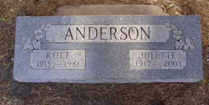 ANDERSON, JULETTE IRENE - Minnehaha County, South Dakota | JULETTE IRENE ANDERSON - South Dakota Gravestone Photos