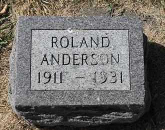 ANDERSON, ROLAND - Minnehaha County, South Dakota | ROLAND ANDERSON - South Dakota Gravestone Photos
