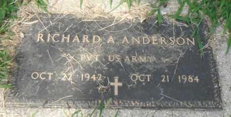 ANDERSON, RICHARD A. - Minnehaha County, South Dakota | RICHARD A. ANDERSON - South Dakota Gravestone Photos