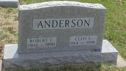 ANDERSON, CLEO L. - Minnehaha County, South Dakota   CLEO L. ANDERSON - South Dakota Gravestone Photos