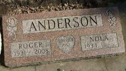 ANDERSON, NOLA - Minnehaha County, South Dakota | NOLA ANDERSON - South Dakota Gravestone Photos
