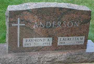 ANDERSON, RAYMOND A. - Minnehaha County, South Dakota   RAYMOND A. ANDERSON - South Dakota Gravestone Photos