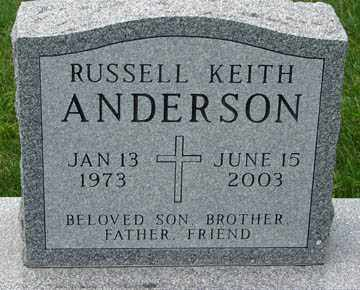 ANDERSON, RUSSELL KEITH - Minnehaha County, South Dakota | RUSSELL KEITH ANDERSON - South Dakota Gravestone Photos