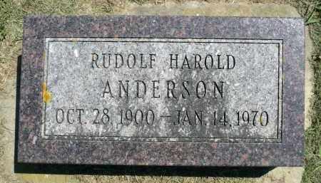 ANDERSON, RUDOLF HAROLD - Minnehaha County, South Dakota | RUDOLF HAROLD ANDERSON - South Dakota Gravestone Photos