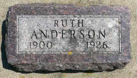 ANDERSON, RUTH - Minnehaha County, South Dakota | RUTH ANDERSON - South Dakota Gravestone Photos