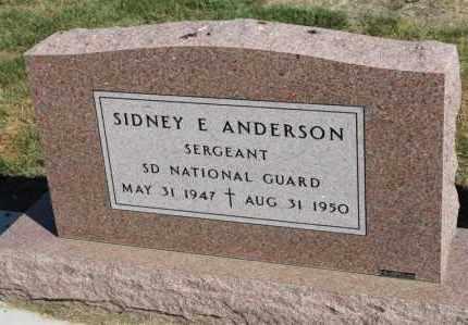 ANDERSON, SIDNEY E. (MILITARY) - Minnehaha County, South Dakota   SIDNEY E. (MILITARY) ANDERSON - South Dakota Gravestone Photos
